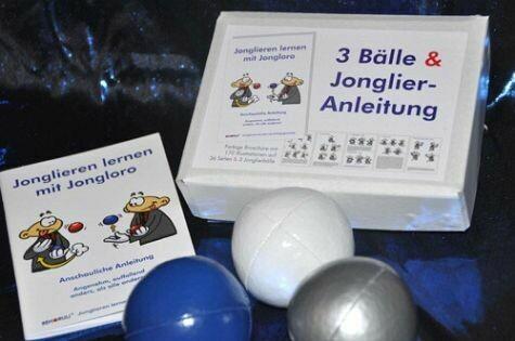 Jonglierball-Set-blau-silber-weiss